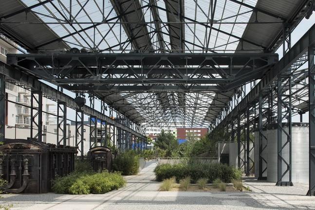 Adh nantes jardin des fonderies 46 landscape for Architecture de jardin
