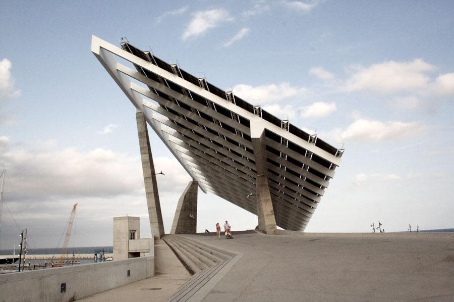 Forum esplanade solar panels by jos antonio mart nez - Solar barcelona ...