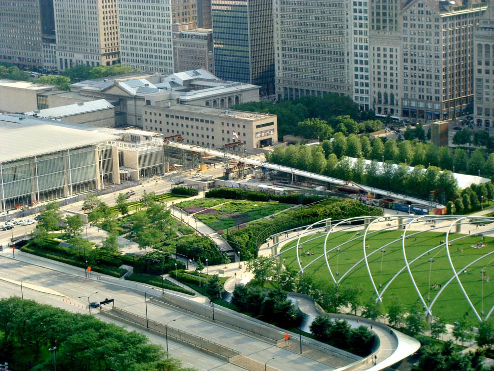 Lurie garden by gustafson guthrie nichol piet oudolf for Landscape design chicago