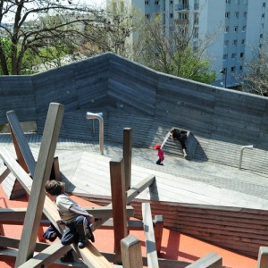 Base Playground in Belleville Park in Paris 10