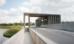 Karres en Brands landscape architecture cemetery Langedijk Entrance building Onix_ photo Saph_Rob de Jong