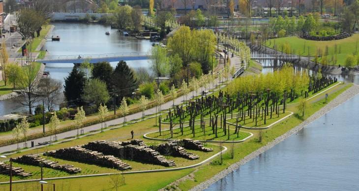 20110411 park schinkel islands by buro sant en co for Buro water street
