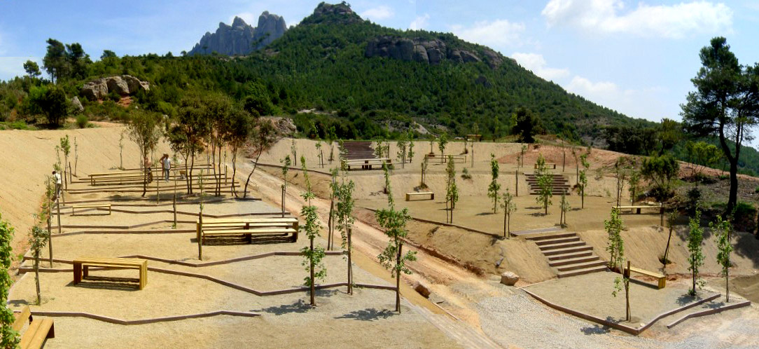 Nature leisure area in montserrat by emf landscape for Area landscape architects