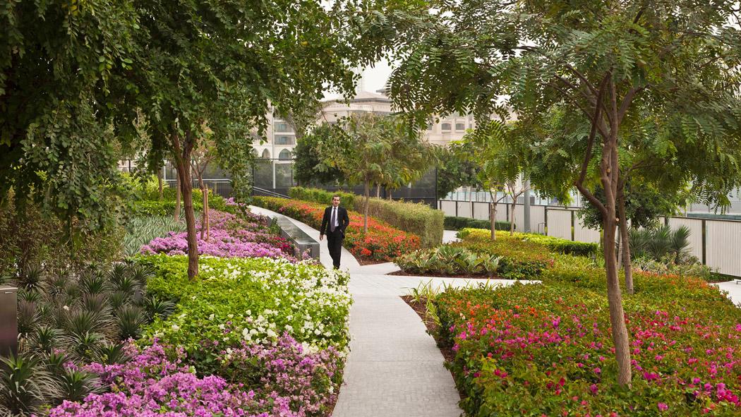 Burj khalifa park by swa group landscape architecture for Swa landscape architecture