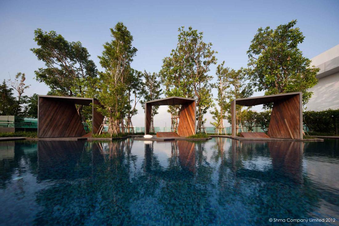 Life ladprao 18 condominium garden by shma design for Garden design ideas thailand