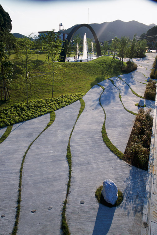 Saiki peace memorial park by earthscape landscape for Advanced landscape design