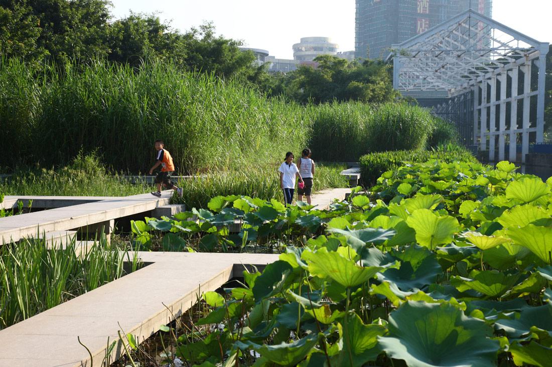 Zhongshan shipyard park by turenscape landscape for Park landscape design