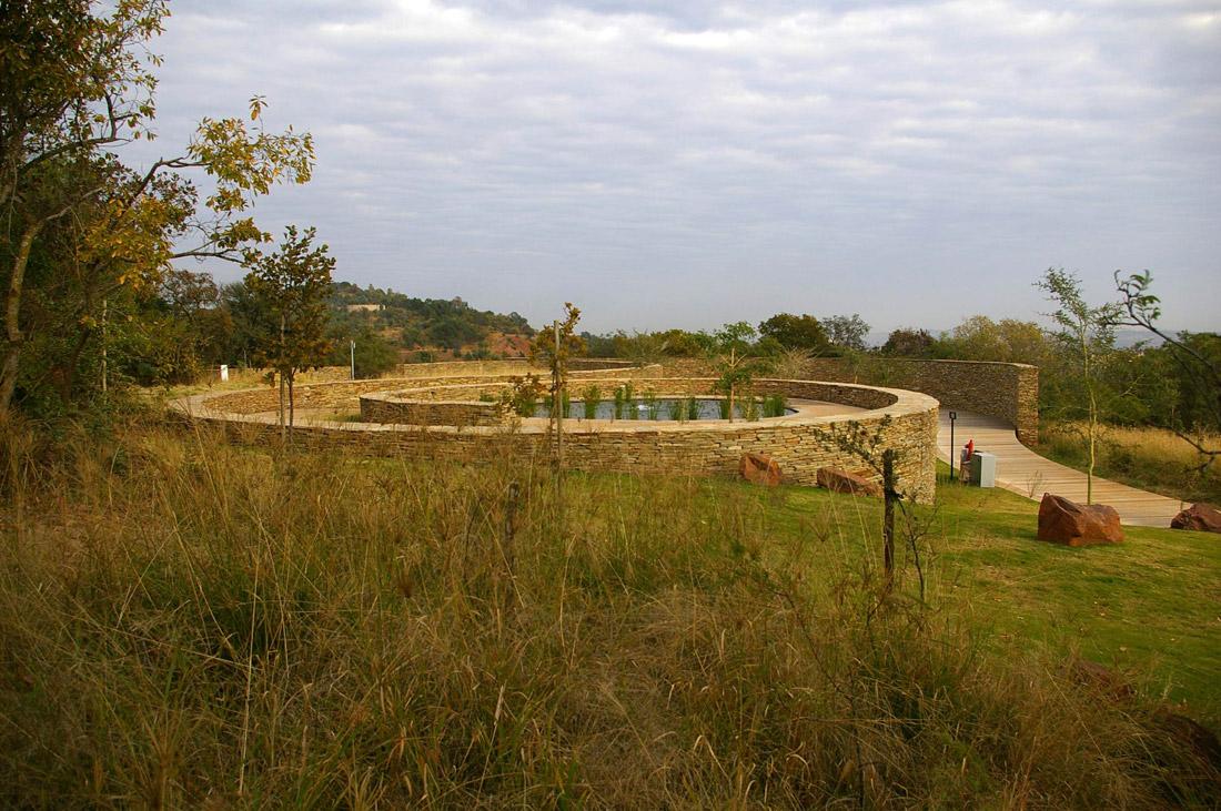 Freedom park uitspanplek entrance graham young landscape for Greeninc landscape architecture