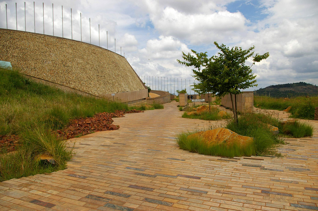 Freedom park wall of names approach graham young for Greeninc landscape architecture