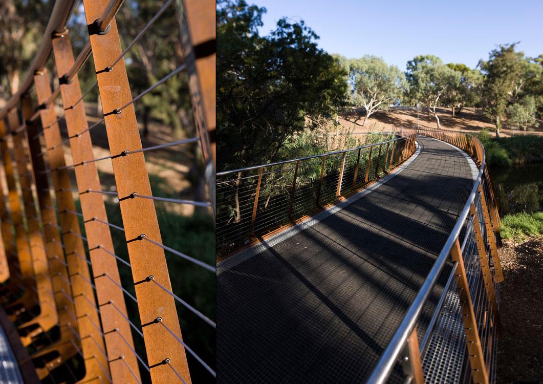 River torrens bridge by oxigen landscape architecture for Oxigen landscape