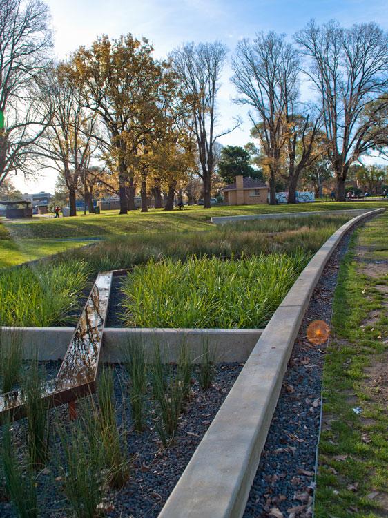 Edinburgh Gardens Raingarden by GHD Pty Ltd « Landscape Architecture