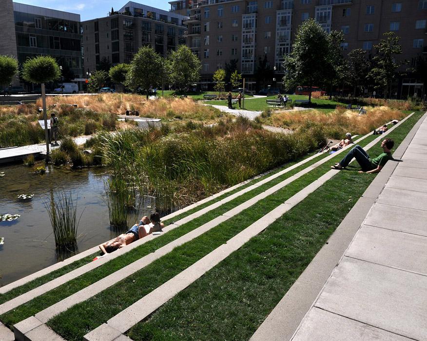 Tanner Springs Ramboll Studio Dreiseitl U00ab Landscape Architecture Works | Landezine