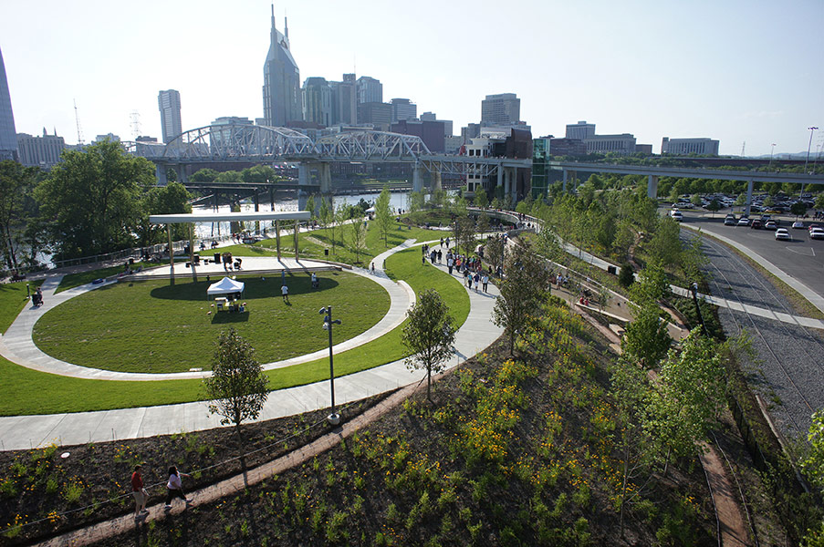 Cumberland park by hargreaves associate landscape for Build on your land nashville tn