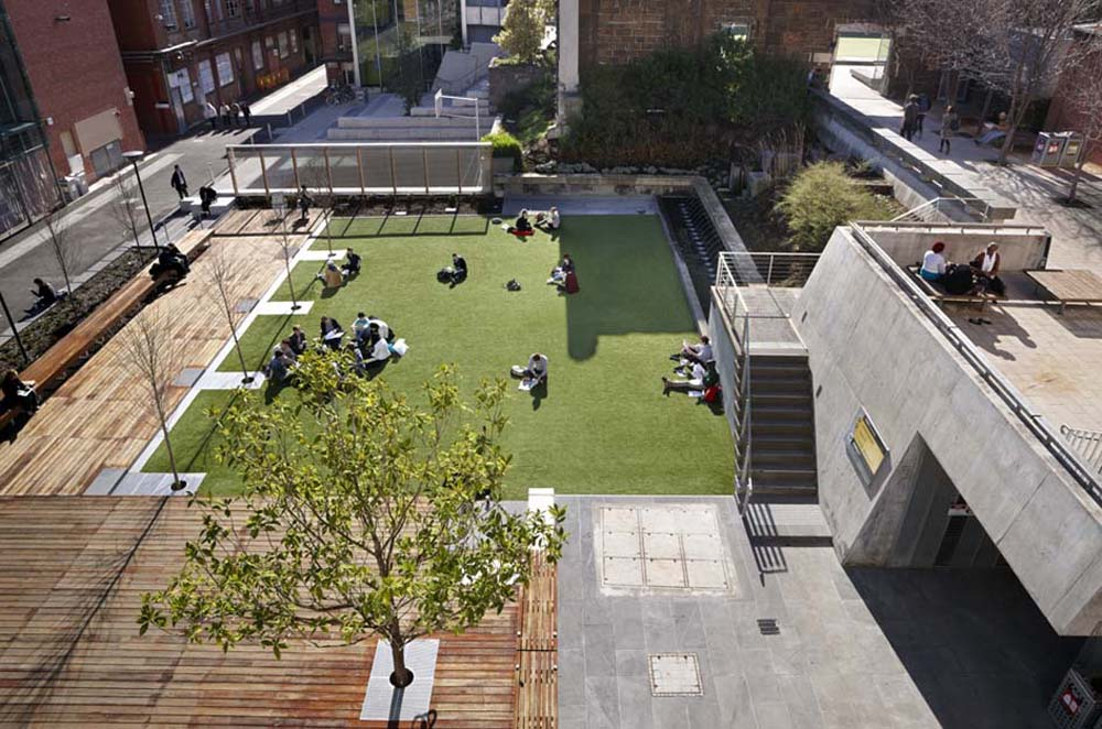 Rmit university lawn by peter elliott pty ltd architecture urban