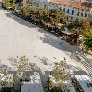 Concept of the square derives from The promenade and its main element, the tree line, one of the main traditions of city Crikvenica, that used to stop at the Stjepan Radić Square. The goal was to patch that crack and, as a result, to reintegrate south-east part of Crikvenica as a cohesive part of the city.