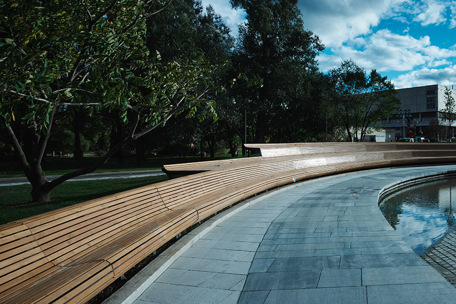 The krymskaya embankment by wowhaus landscape for Design of pond embankment