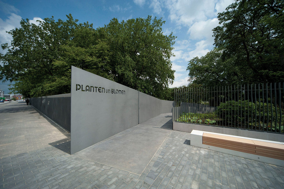the neue messe entrance to planten un blomen by a24 landscape architecture works landezine. Black Bedroom Furniture Sets. Home Design Ideas
