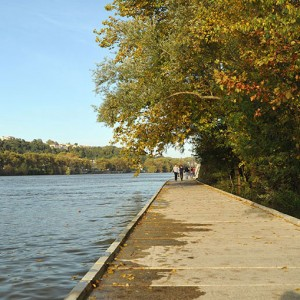 French studio Base landscape architecture completes it's quietly spectacular path along the river Saone, Lyon.