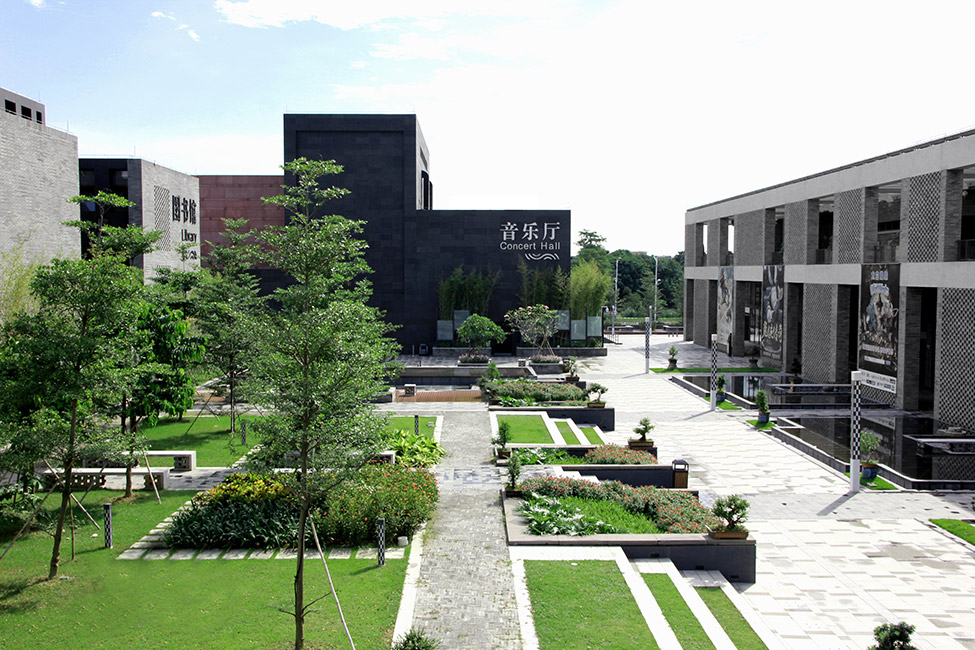 Beijiao cultural centre by gravity green landscape for Courtyard landscape architecture