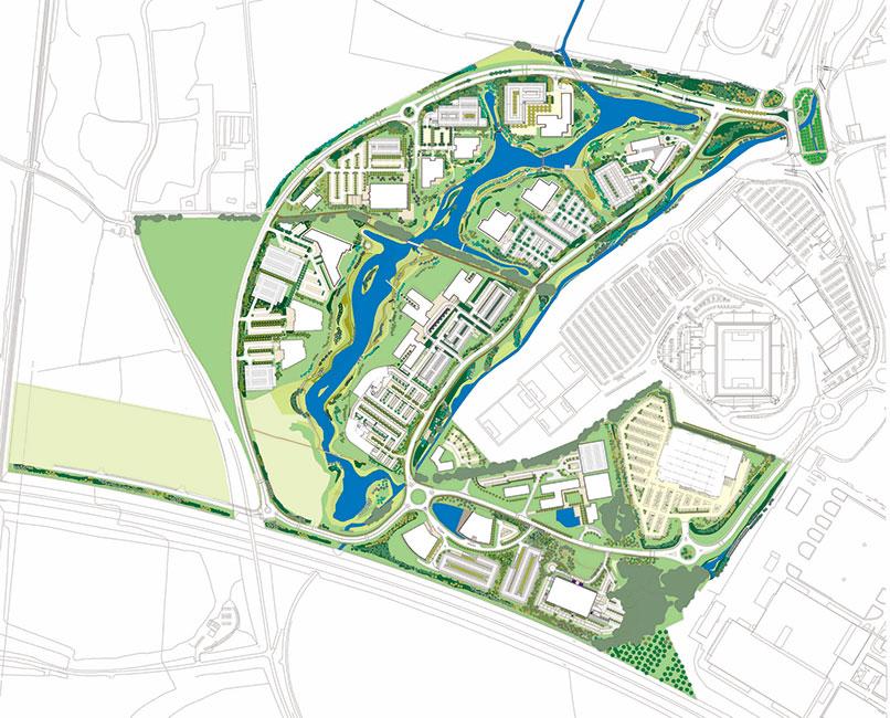 Green park by place design planning 13 landscape for Place landscape architecture