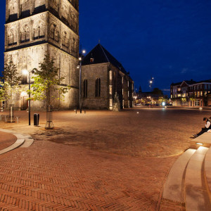 The goal set by Oldenzaal's city council for the redesign of St. Plechelmus square was to make it the most beautiful square in Twente. St. Plechelmus square lies in the heart of Oldenzaal; it is the city's landmark and terminus for the country roads that lead to the square. The oldest sections of the cathedral date from the twelfth century and its colourful stained glass windows, dating from the nineteenth century, make the cathedral truly unique.