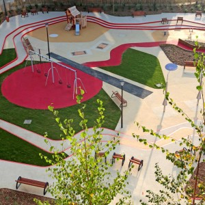 The analysis and research made on the teaching of the child and his perception of space work have enabled us to develop a program highlighting a dedicated early childhood space. The generous space of almost 1900m2, yet conscious of every detail, is divided into three parts: a plot, a raised area for adults and a  disbursed central area for children.