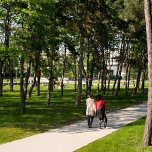 The rehabilitation of the 'park de la prefecture' is an opportunity to improve its opening towards surrounding neighbourhoods. Designed in 1974 by Alain Provost, the park prefecture has retained its 'green lung' qualities but is isolated at present. Its rehabilitation will eventually open it towards surrounding facilities, shops and neighbourhoods.