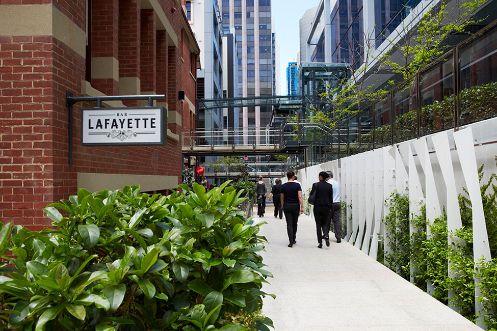 Brookfield place by hassell landscape architecture works for Place landscape architecture