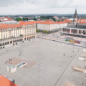 "The redesign of the Altmarkt, Dresden's oldest square, was subject to a multifaceted and complex requirement profile: the integration of a tram stop and an underground parking facility with 468 parking spaces into the area of the square, as well as the restructuring of the adjacent pedestrian areas. An urban, representative and multifunctional town plaza has emerged – an inner city ""stage"" with a high quality of stay."