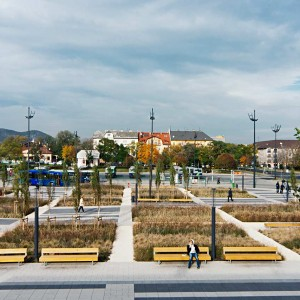 In 2014, the 4th metro line of Budapest was completed. The project area is the vast open space of the metro lines' final station that is to be a temporary design for only a part of Etele square, as the future plan of the district is to renew the square together with the metro exit as a comprehensive whole ...