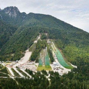 Ski jumps are normally designed to facilitate large competitions with enormous infrastructure and logistics. When more than 15,000 people come to this fragile valley, the form of the architecture seizes to exists, as its operational function holds the crucial role. But on the everyday situations, when few of the young ski jumpers would come to train in solitude, its simplicity, respect toward the site and robustness is awaken again.
