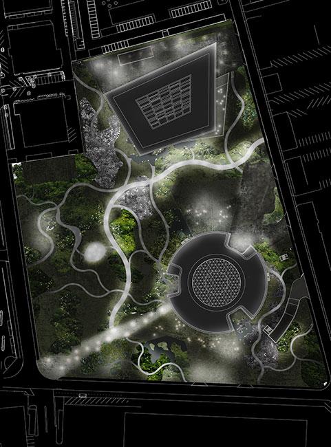 Novo nordisk nature park sla architects 16 landscape for Landscape lighting plan