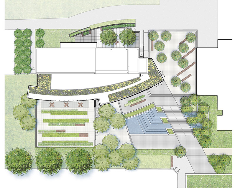 Simons center park dirtworks 12 site plan landscape for Garden and home architects plans