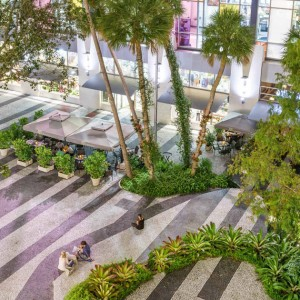 This redesign for the historic promenade and plaza at 1111 Lincoln Road, developed concurrently with Herzog & de Meuron's now-iconic parking garage, completely revitalized the westernmost block of Lincoln Road Mall. Native plants and hardscape elements are carefully placed to create various vantage points and visual corridors for pedestrians—one of the project's main goals ...