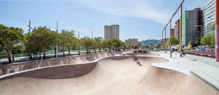 Barcelona Skateparks: Nou Barris and La Mar Bella by SCOB