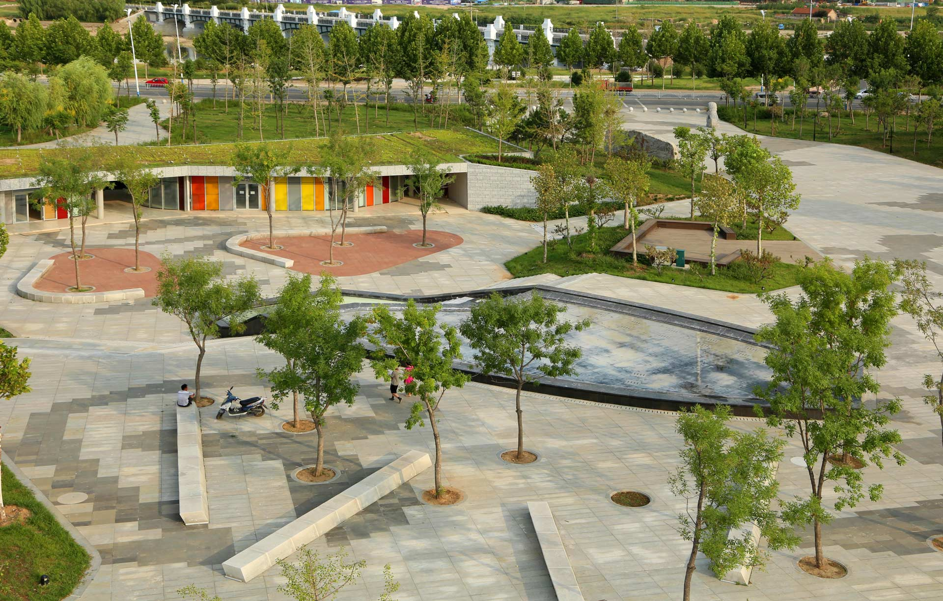 Qinglongshan cultural plaza by atelier dyjg landscape for Space landscape designs