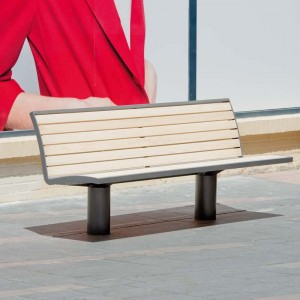 DENVER wood bench and chair