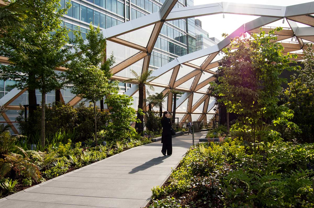 Crossrails Station Roof Garden by Gillespies Landscape