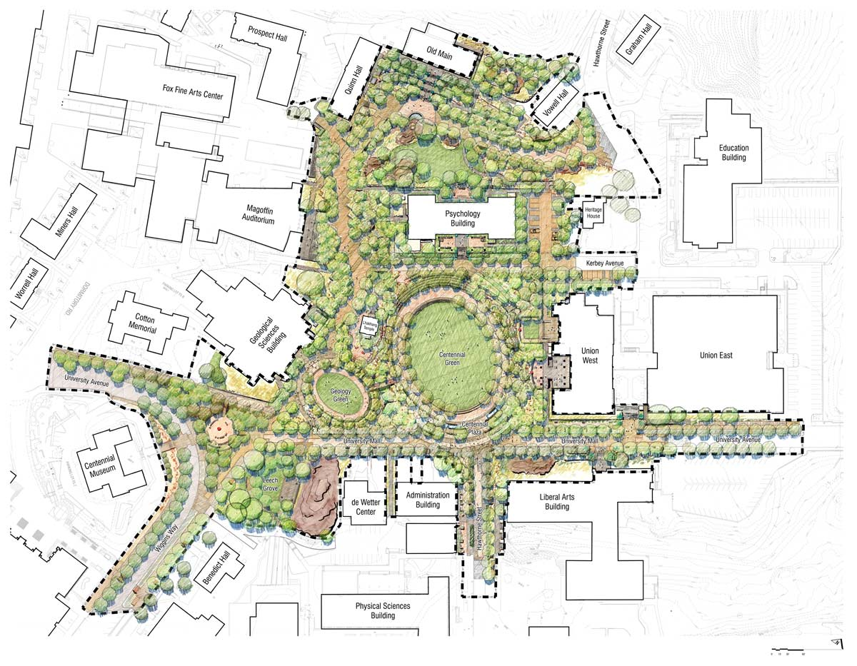 Campus Map Utep.Centennial Plaza By Ten Eyck Landscape Architects Landscape