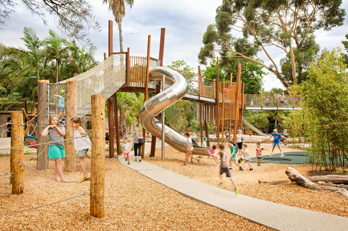 Adelaide Zoo Nature S Playground By Wax Design Landscape Architecture Works Landezine