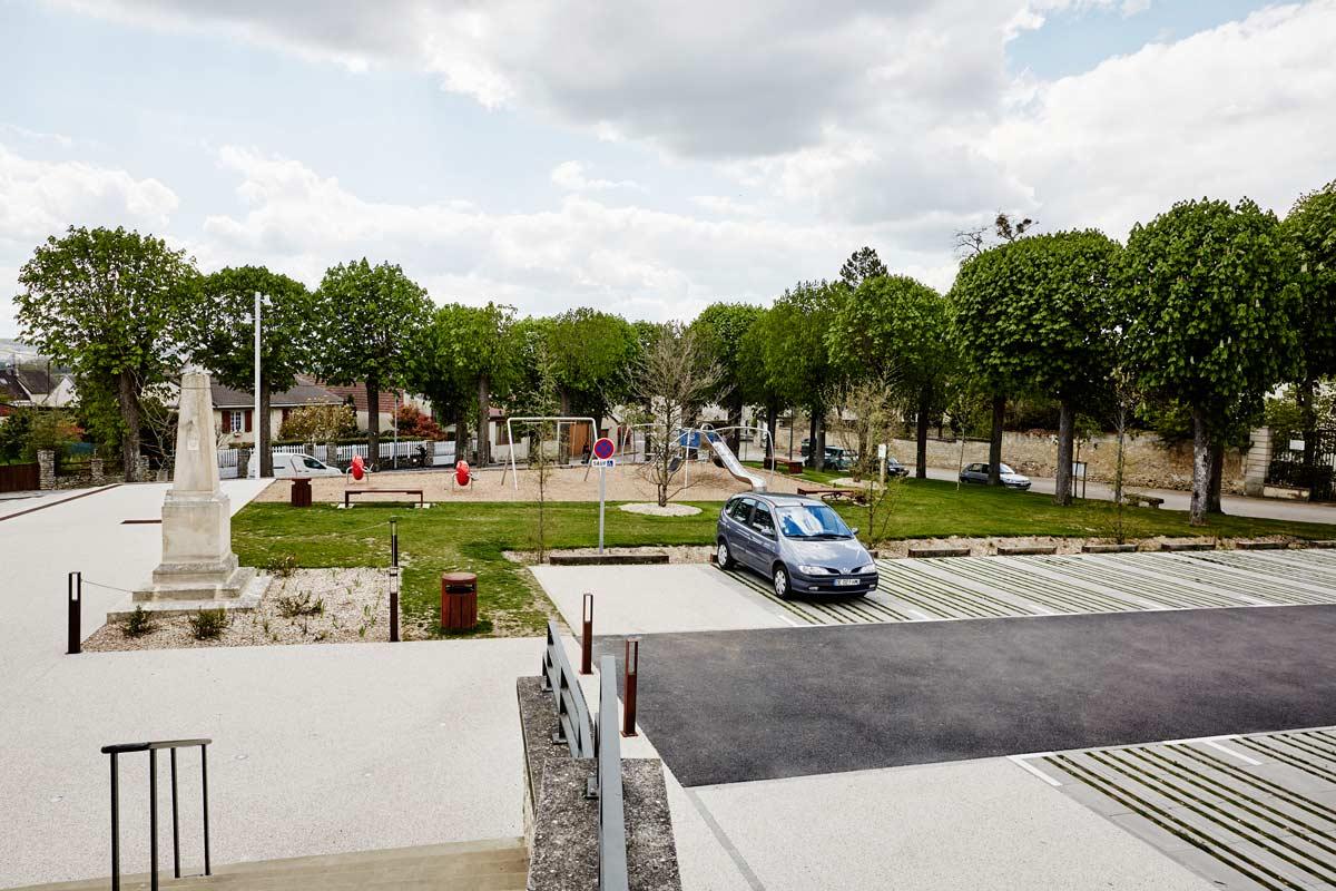 Guitrancourt place du village 06 landscape architecture for Place landscape architecture