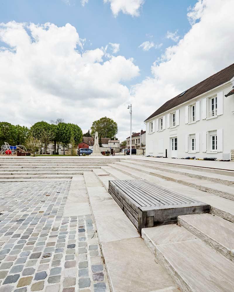 Guitrancourt place du village 07 landscape architecture for Place landscape architecture