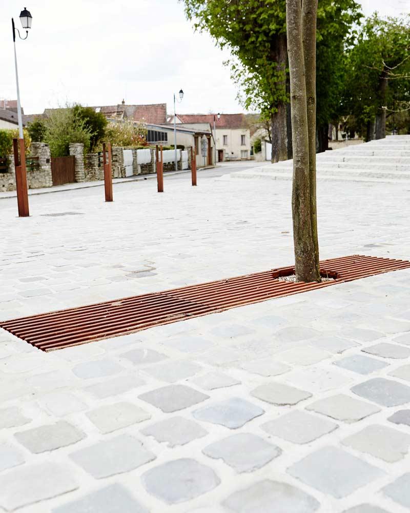 Guitrancourt place du village 19 landscape architecture for Place landscape architecture