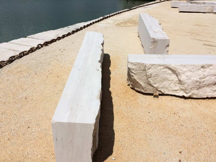Travertine from Chile-an installation from Teresa Moeller