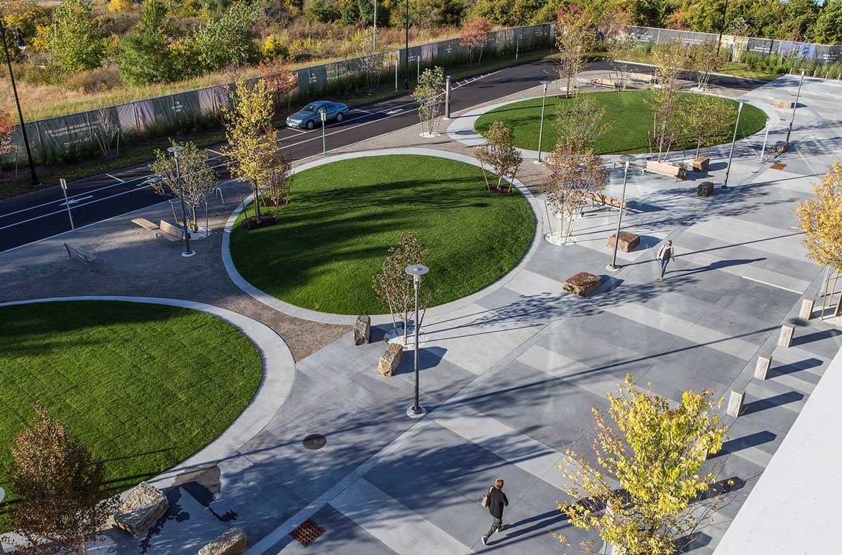 North point gateway and pocket park by landworks studio for Landscape architecture