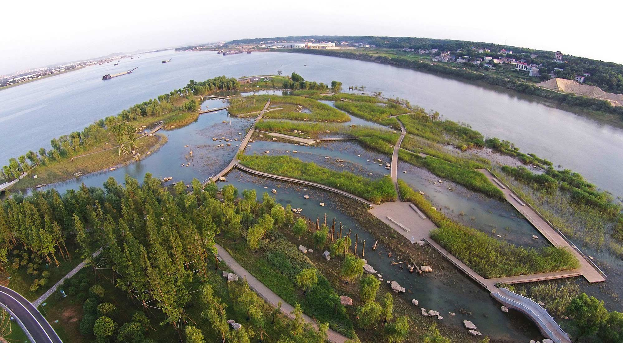 River forest island by swa landscape architecture works for Swa landscape architecture