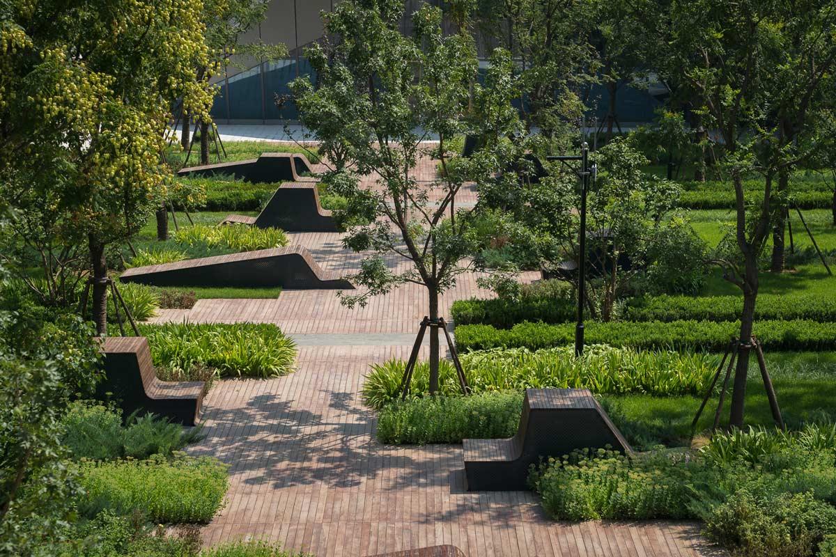 3 sunken courtyard garden landscape architecture works for Rosewood garden designs