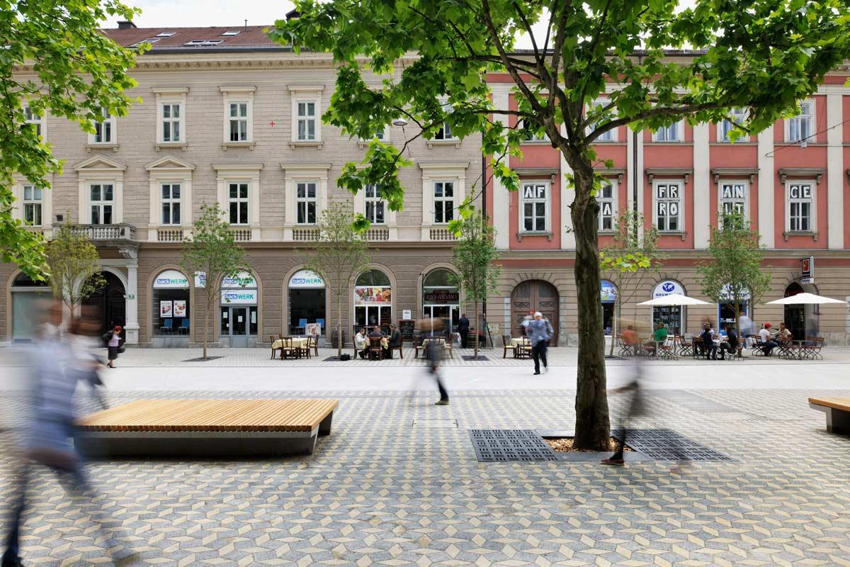 Slovenska boulevard shared space 02 landscape for Shared space design