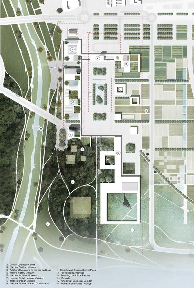 National Museum Complex Master Plan Sejong South Korea Landscape