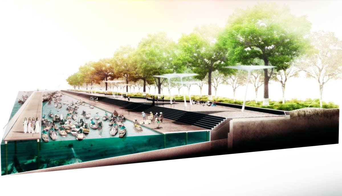 International landscape design competition for han river for Landscape design competition